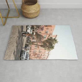 Procida Island Palmtree View Photo   Summer Holiday In Italy Art Print   Soft Pastel Color Travel Street Photography Rug