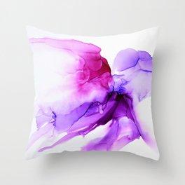 Soaring Purple Throw Pillow