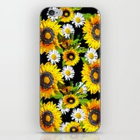 sunflowers iPhone & iPod Skins featuring Sunflowers by Saundra Myles