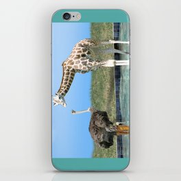The Ostrich with Galoshes iPhone Skin