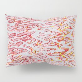 Brushed Red, Yellow, Silver Painting Pillow Sham