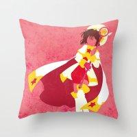 sakura Throw Pillows featuring Sakura by JHTY