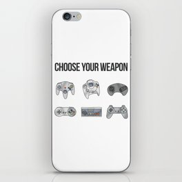 Choose Your Weapon iPhone Skin
