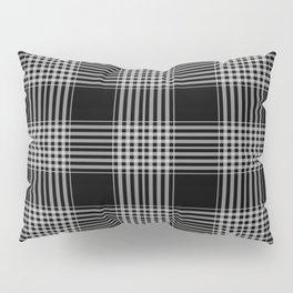 Black & Gray Plaid Print Pillow Sham