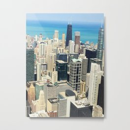 Chicago Buildings Color Photo Metal Print