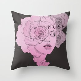 rose black Throw Pillow