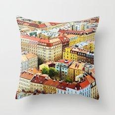 Roofs of Prague Throw Pillow