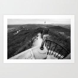 Buda hills Art Print