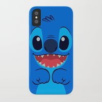 stitch iPhone & iPod Cases featuring Stitch by skyetaylorrr