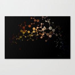 Metallic Molecule Canvas Print