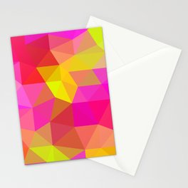 Citrus Candy Low Poly Stationery Cards