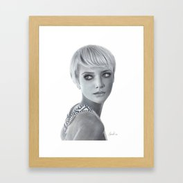 Pixie Mod - Fashion Illustration Framed Art Print