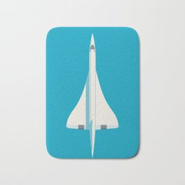 Concorde Supersonic Jet Airliner Aircraft - Cyan Bath Mat