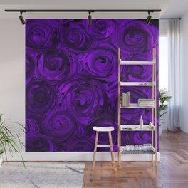 Violet Roses Wall Mural