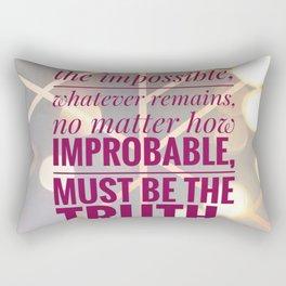 illuminate the impossible Rectangular Pillow