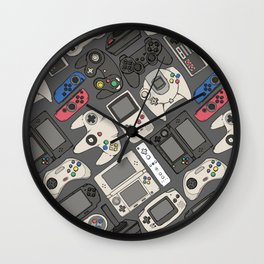 Video Game Controllers in True Colors Wall Clock