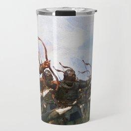 Medieval Army in Battle Travel Mug