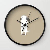 puppy Wall Clocks featuring PUPPY by Seokhyun Shim