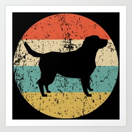 Labrador Retriever Vintage Retro Dog Art Print