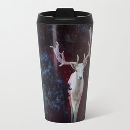 Magic white deer on moon phase dream Travel Mug