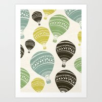 balloons Art Prints featuring Balloons by spinL