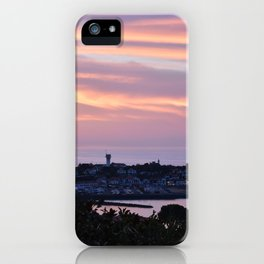 Pink sky on the sea iPhone Case