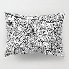Sao Paulo Map Gray Pillow Sham