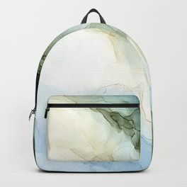 Land and Sky Abstract Landscape Painting Backpack