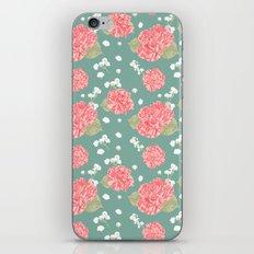Sweet Carnation Flower Seamless Pattern iPhone Skin