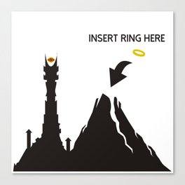 Lord of the Ring Intructions Canvas Print