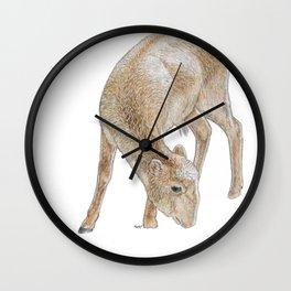 Demure Yak Wall Clock