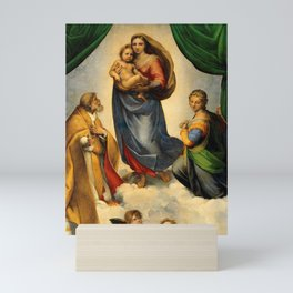 Sistine Madonna and Child and Angels Virgin Mary Religion Catholic Gift Mini Art Print