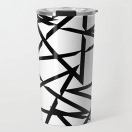 Interlocking Black Star Polygon Shape Design Travel Mug