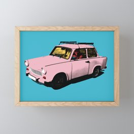 Trabant pink pop Framed Mini Art Print