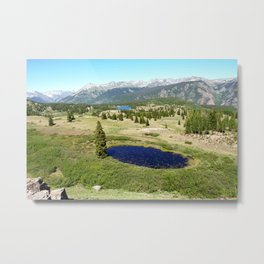 Panorama of the San Juans from Molas Pass, at 10,910 feet Metal Print