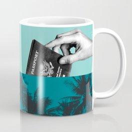 Passport paradise - green Coffee Mug