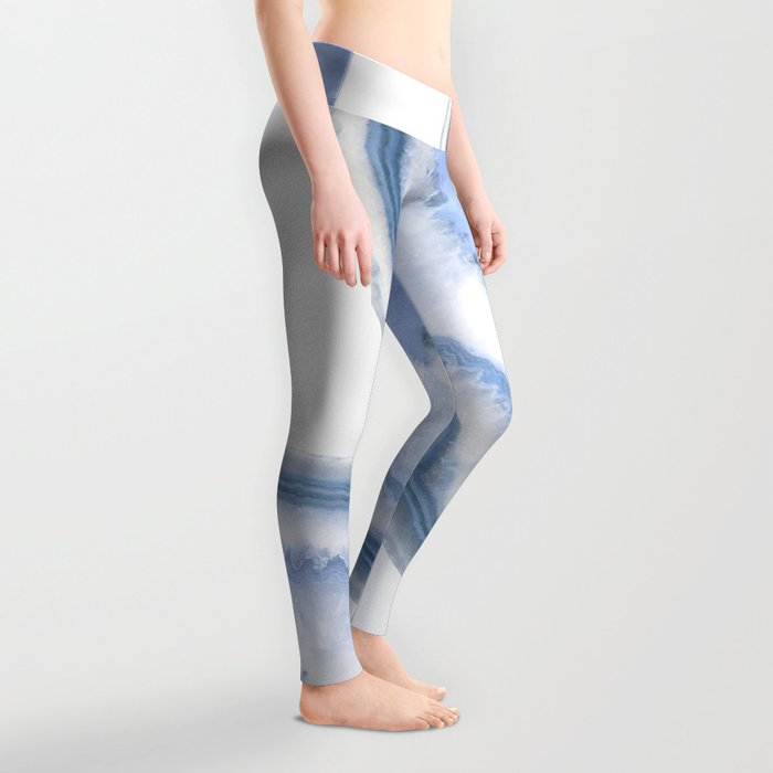 Airy Blue Agate Leggings