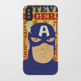 Steve Rogers/Captain America iPhone Case