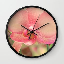 The mystery of orchid (16) Wall Clock