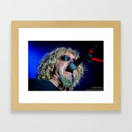 Sammy Hagar Live Photo Framed Art Print