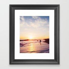 Newport Beach at Sunset Framed Art Print