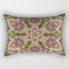Fantasy flower with tribal patterns Rectangular Pillow