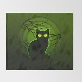 Halloween Cat Throw Blanket