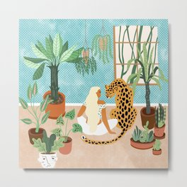 Urban Jungle #illustration #botanical Metal Print