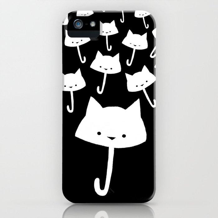 minima - cat rain iPhone Case