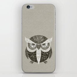 Wise Old Owl Says iPhone Skin