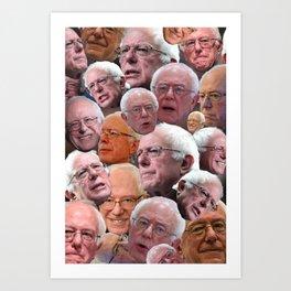 BERNIE SANDERS EXPRESSIONS Art Print