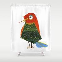 birdy Shower Curtains featuring Birdy by KristinaVardazaryan