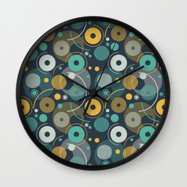 rounded shapes Wall Clock