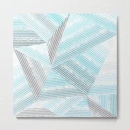 Blue lines 2 Metal Print